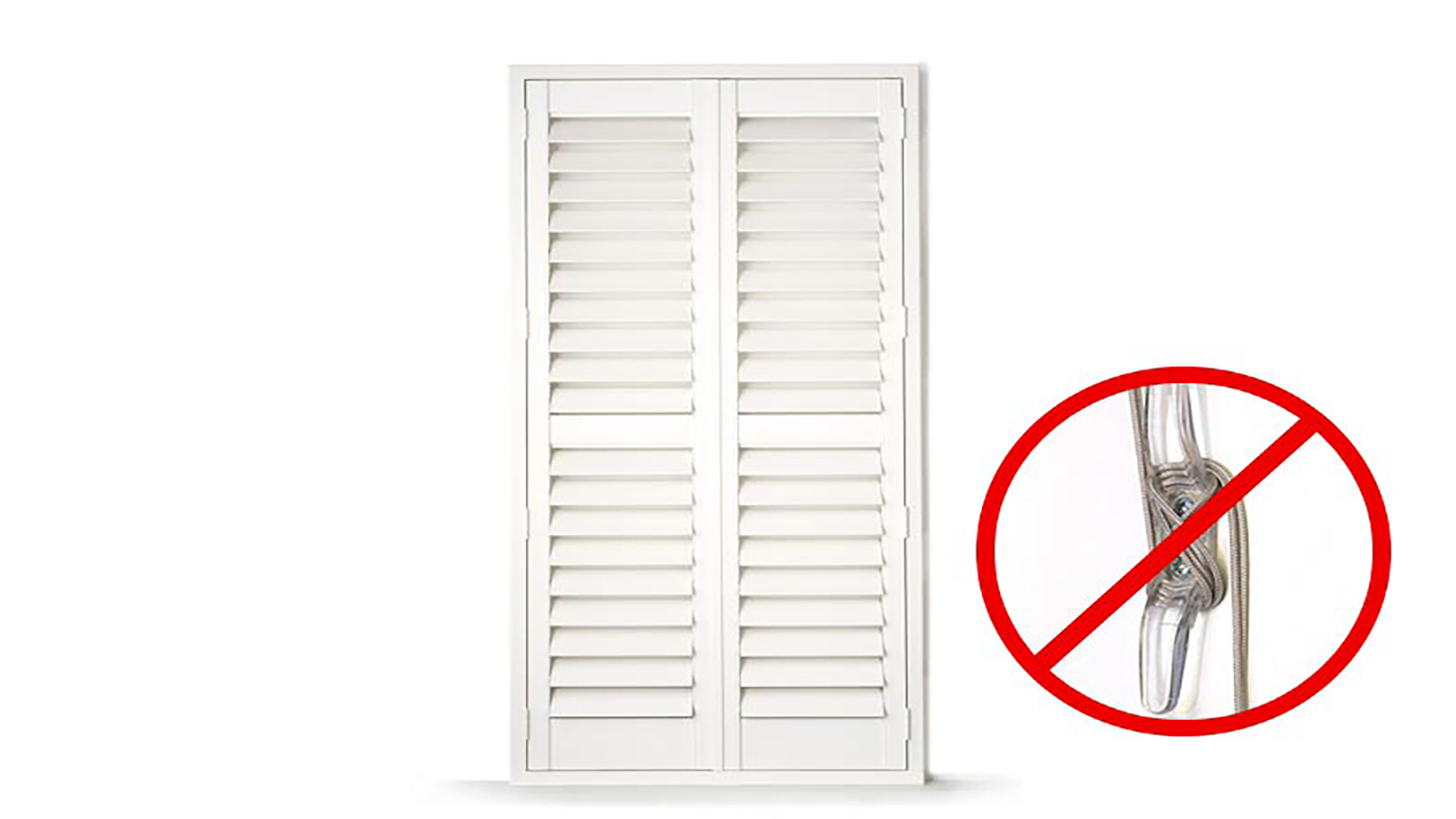 PVC Shutters with no cord